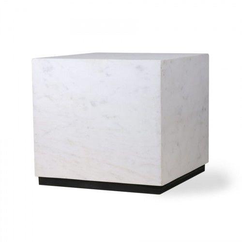Stolik marmurowy Block biały rozm. L HK Living