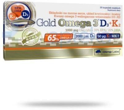OLIMP Gold Omega-3 D3+K2 30 kapsułek