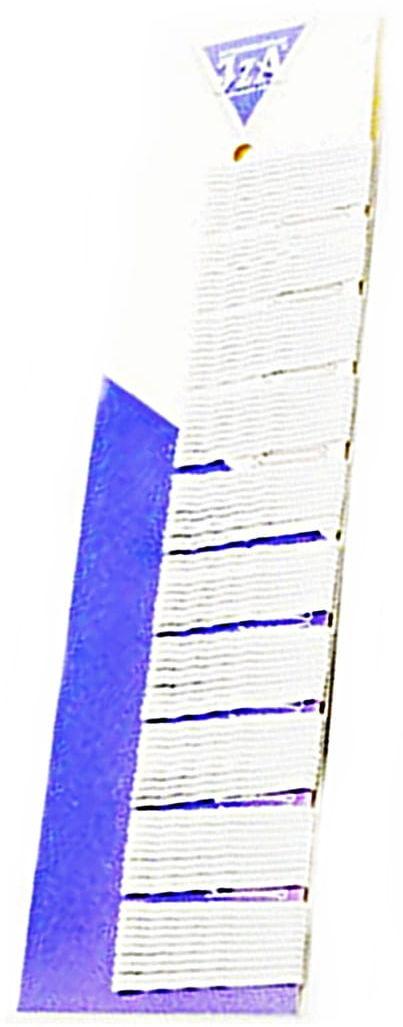 IzA 345/100 wsuwki karbowane białe 100 sztuk 50mm