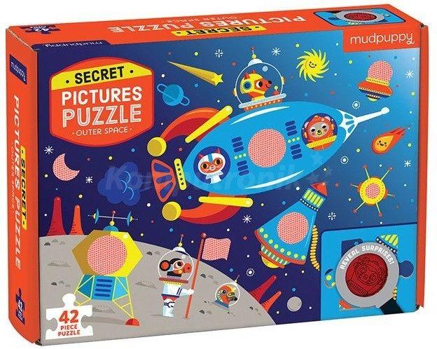 Mudpuppy - Puzzle z Ukrytymi Obrazkami Kosmos 42 Elementy 3+
