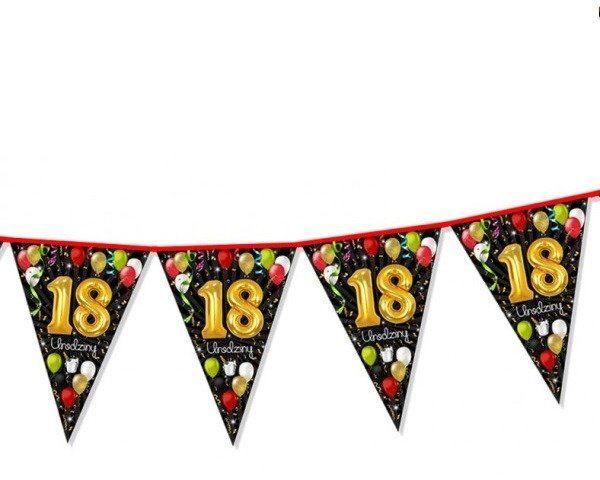 Girlanda flagi 18 urodziny 2m 1 sztuka CH18