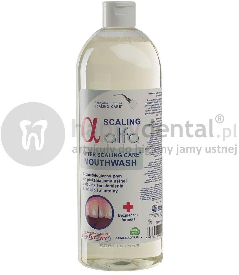 ALFA SCALING 1000 ml - płukanka profilaktyczno-pozabiegowa z dodatkiem siemienia lnianego i alantoiny