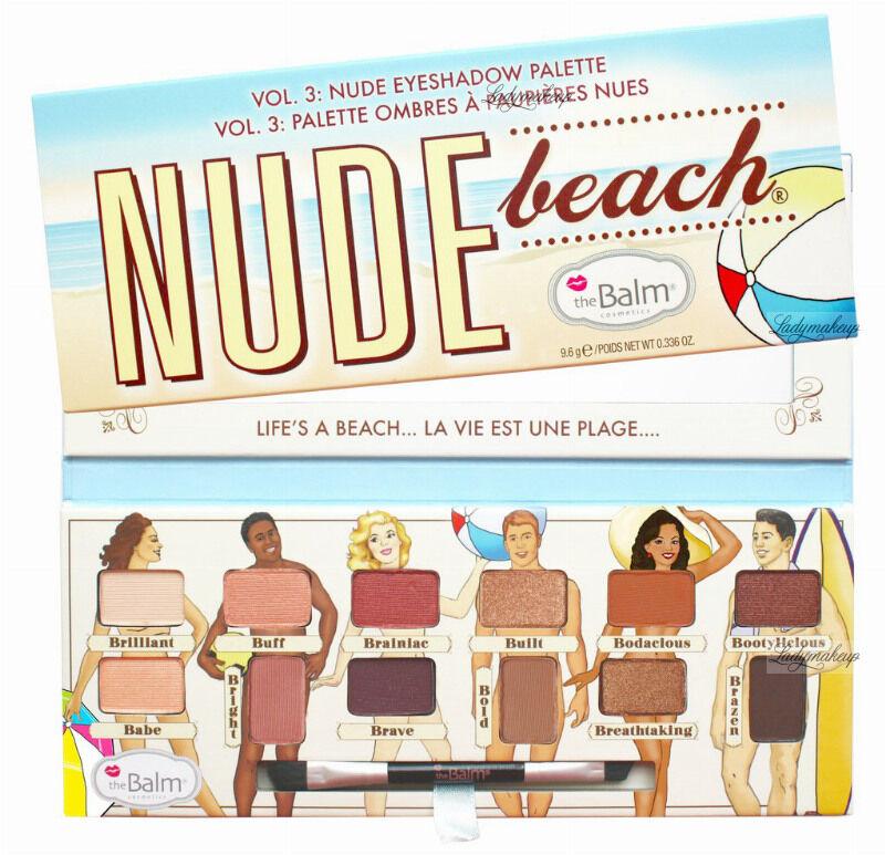 The Balm - NUDE BEACH - Nude Eyeshadow Palette - Paleta 12 cieni do powiek