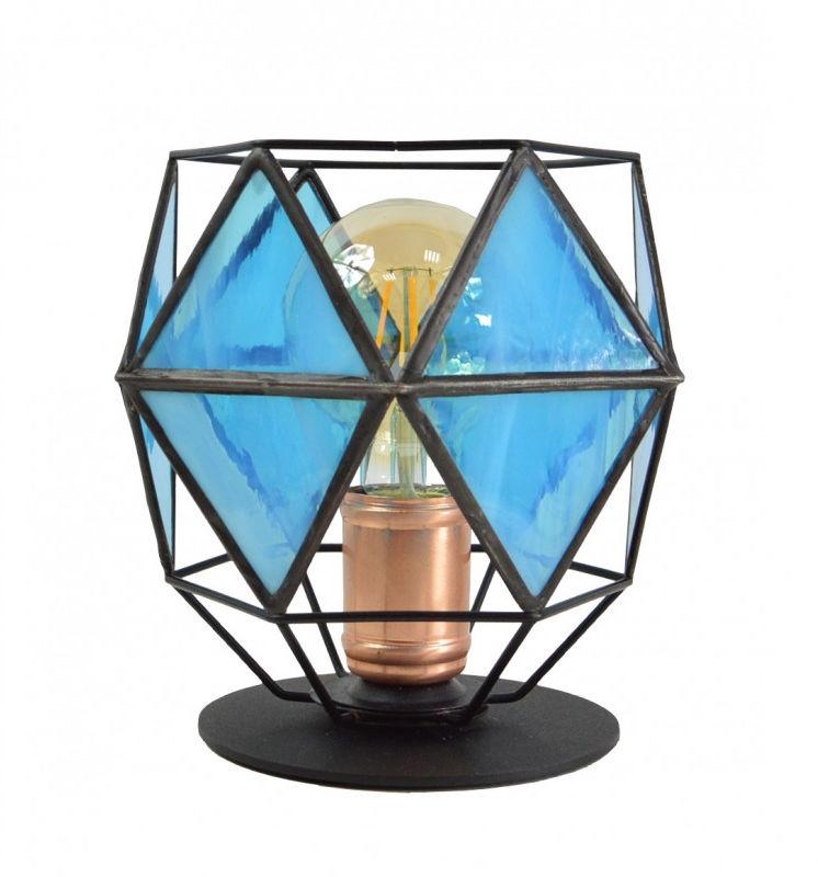 Lampa stołowa GLASS DIAMOND BLUE