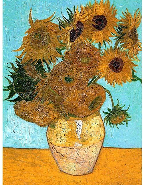 Wee Blue Coo Vincent Van Gogha martwa natura wazon z dwunastoma słonecznikami stara sztuka nadruk plakat dekoracja ścienna 30 x 40 cm