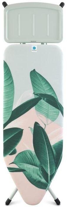 Brabantia - deska do prasowania rozmiar 124 x 45 cm, rama biała 25mm - podstawa na generator pary