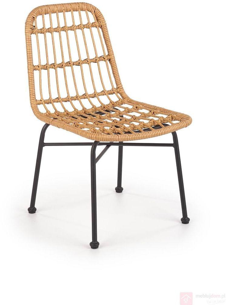 KUPON 10% NA STRONIE  Krzesło ratanowe K-401 Halmar Naturalny