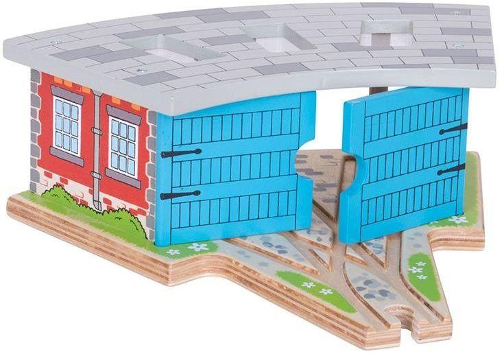 Parowozownia z 3 miejscami dla lokomotyw, BJT119-Bigjis Rail