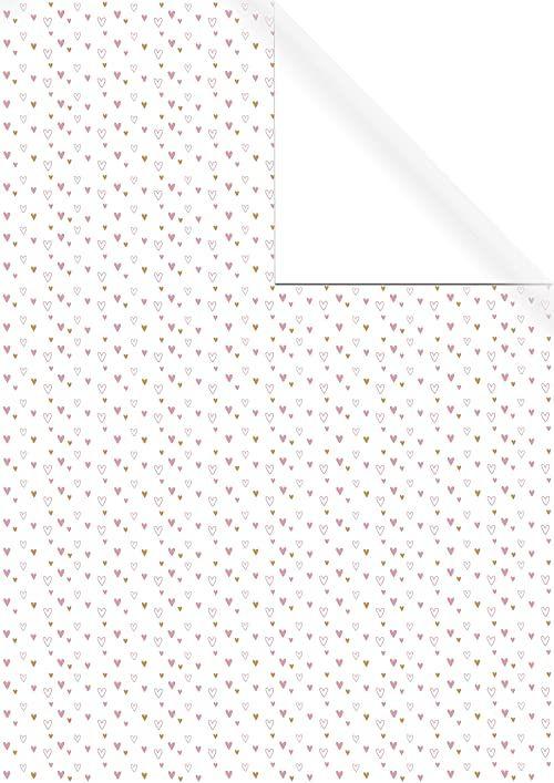 Rayher 67355000 papier do pakowania prezentów biały, FSC Mix Cred, 70 x 200 cm, 1-stronny nadruk, 70 g/m2, naturalny, normalny