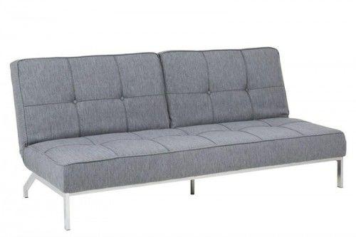 Sofa Perugia jasno szara na chromowanych nóżkach