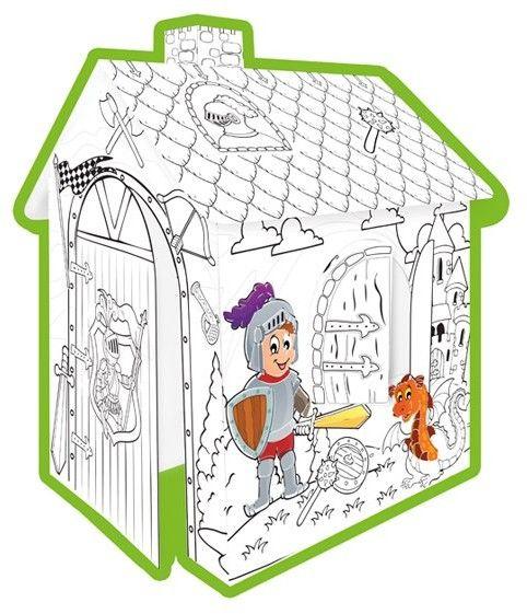 Domek Do Kolorowania Rycerz MOCHTOYS