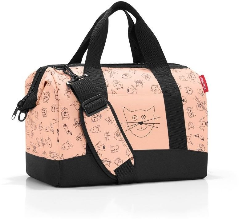 Reisenthel - torba allrounder m - kids cats and dogs rose