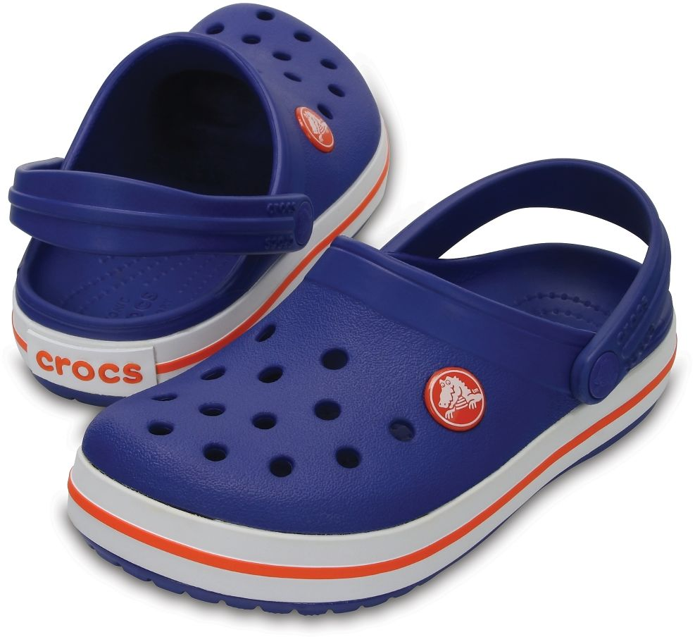 Klapki dziecięce CROCS Crocband Clog K niebieskie 204537405