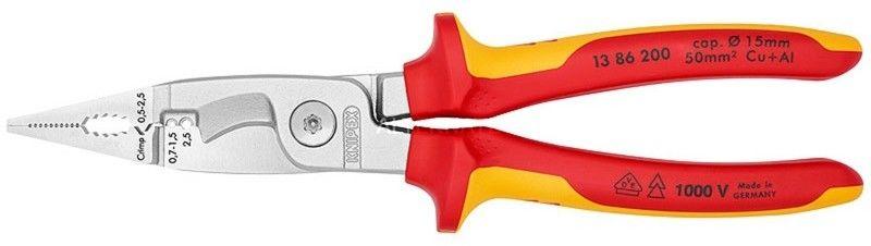 szczypce 6-cio funkcyjne VDE dla elektroinstalatorów Knipex [13 86 200]