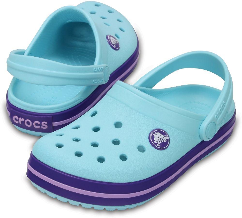 Klapki dziecięce CROCS Crocband Clog K ICE BLUE niebieskie 204537409
