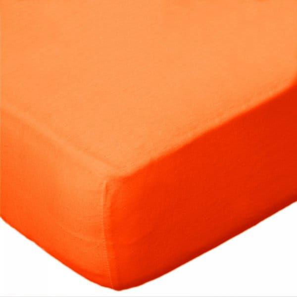 Prześcieradło Jersey 90x200 z gumką KOLOR pomarańczowy