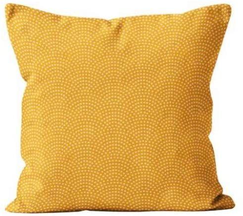Soleil d''ocre Paon poduszka, poliester, żółty, 40 x 40 cm