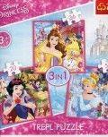 Puzzle 3w1 Dla Młodszych Graczy 36, 50 i 20 Elementów Królewny z bajek Disneya