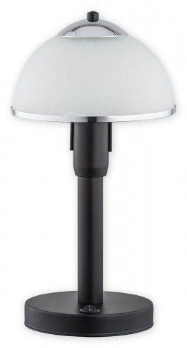 Lava lampka stołowa 1 pł. / czarny matowy + chrom Lemir O2928 L1 CZA + CH