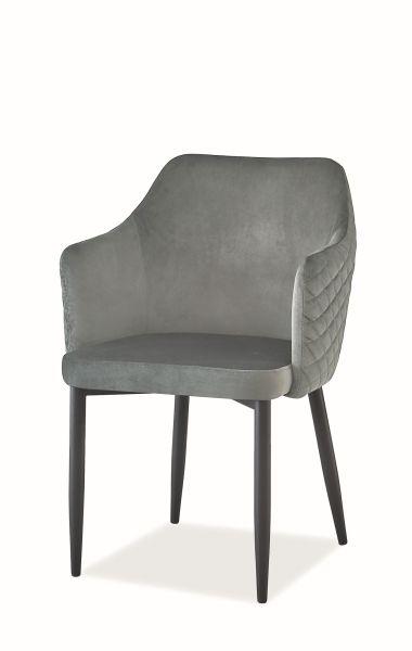 Krzesło ASTOR VELVET szare do jadalni w stylu glamour  KUP TERAZ - OTRZYMAJ RABAT