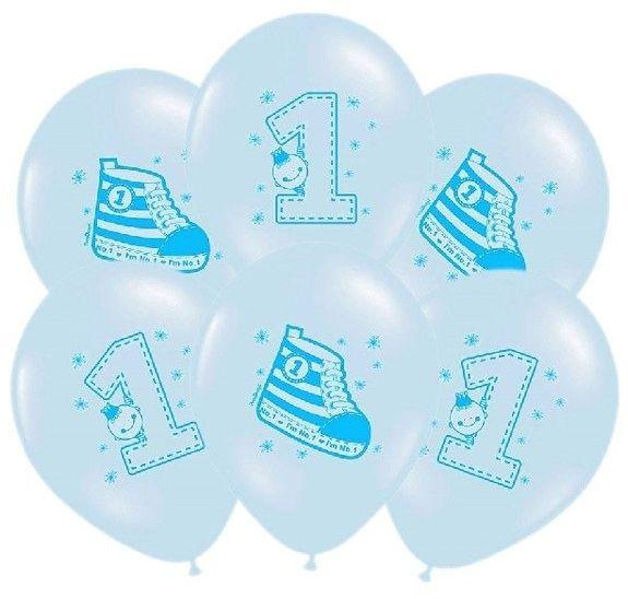 Balony Trampek błękitne 6 sztuk SB14P-222-011-6