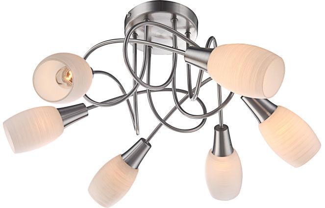 Globo plafon lampa sufitowa Gillian 54983-6D białe klosze 52,5cm