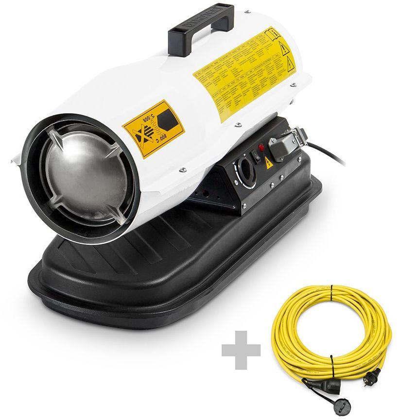 Dmuchawa olejowa IDE 20 D + profi przedłużacz 20 m /230 V/2,5 mm2