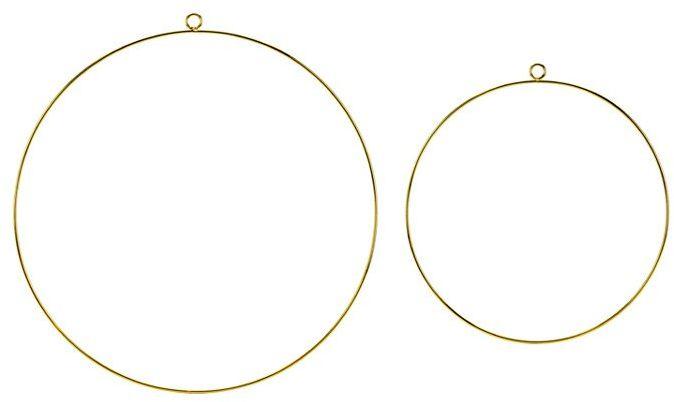 Metalowe zawieszki Koła złote 2szt. ZDM2-019ME
