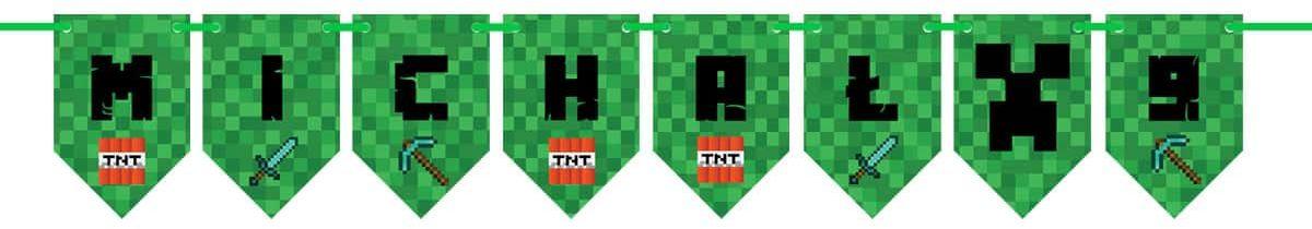 Baner flagi personalizowany Piksele - 300 cm