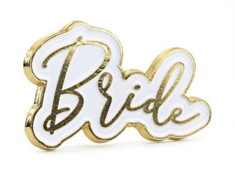 Przypinka Bride 3,5 x 2 cm 1szt. PN3