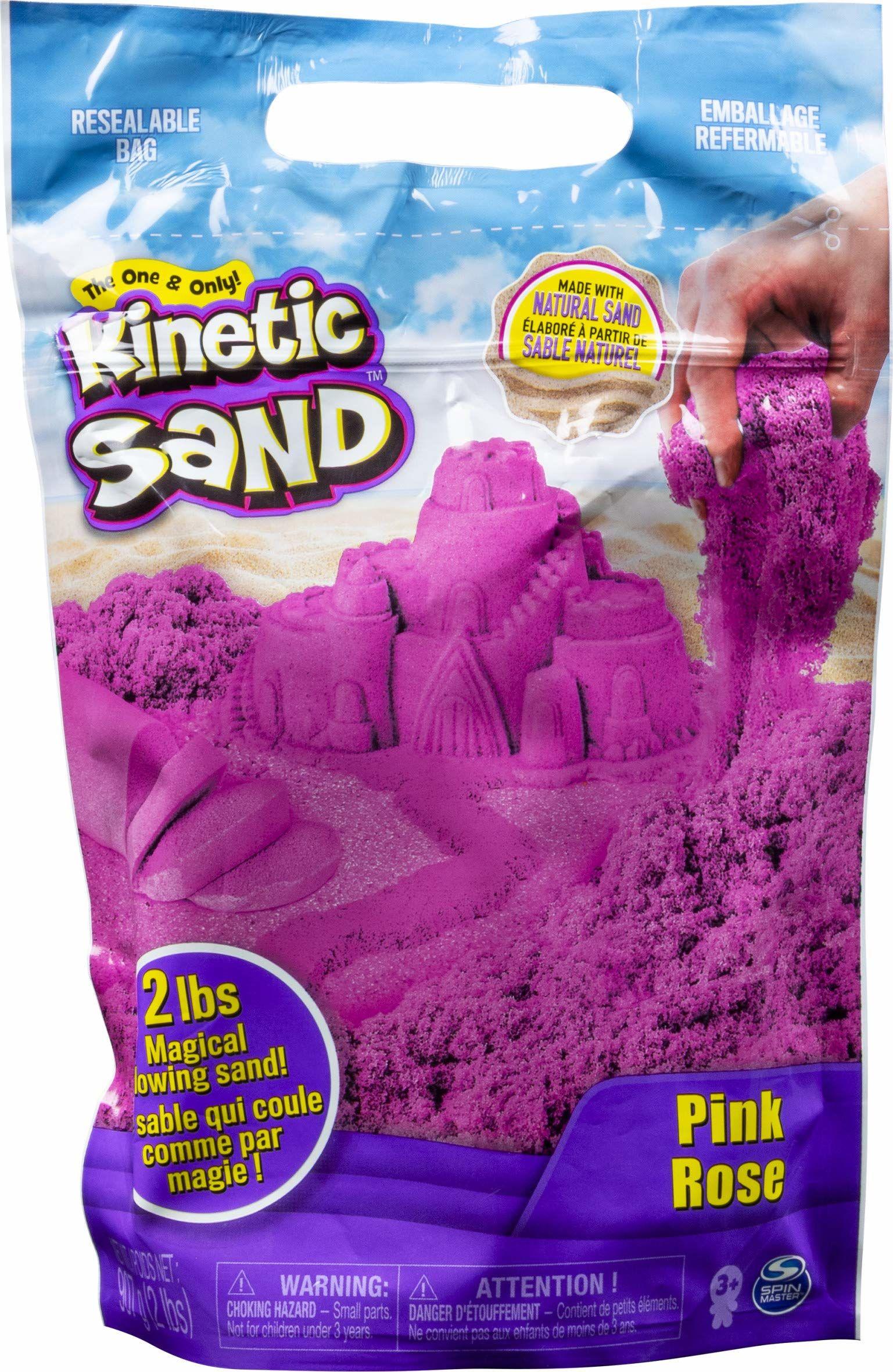 Kinetic Sand 6047185 Piasek Kinetyczny, Różowy, 907 g, Od 3 Lat