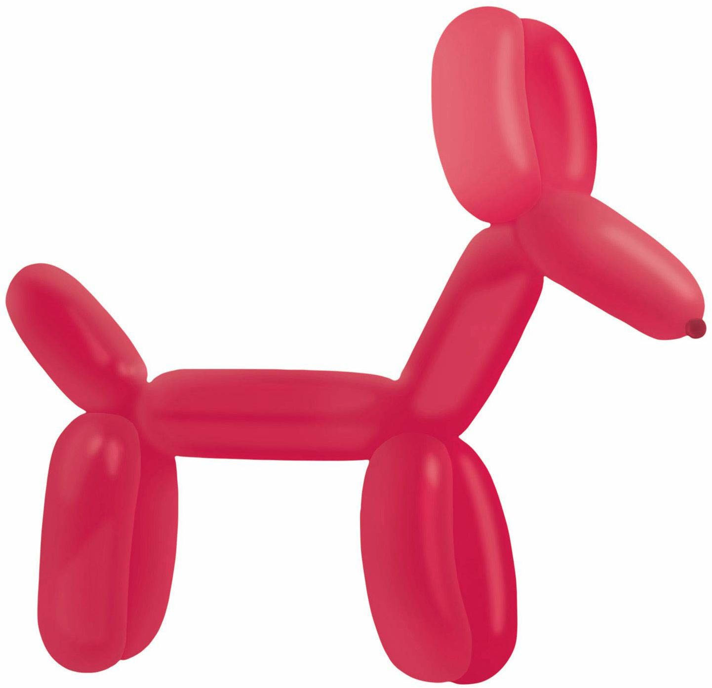 amscan 9905540 100 lateksowe balony do modelowania Fashion E260, czerwony jagodowy