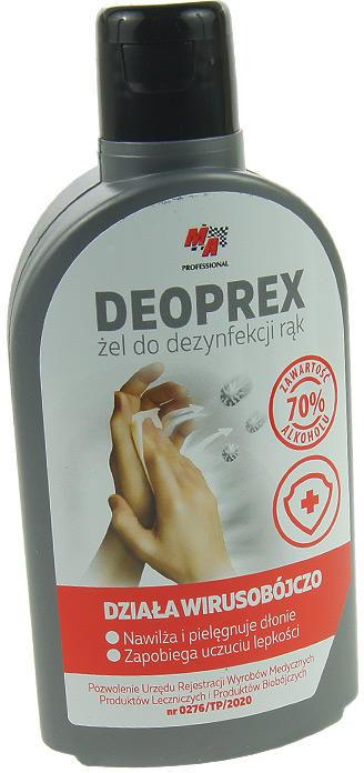644 Żel antybakteryjny do dezynfekcji rąk Deoprex 250ml