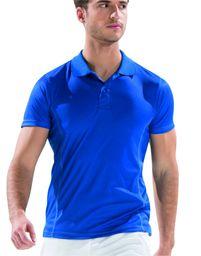 Asioka - 08/13 Techniczna koszulka polo z krótkimi rękawami, gładka, unisex, dla dorosłych. XL Royal