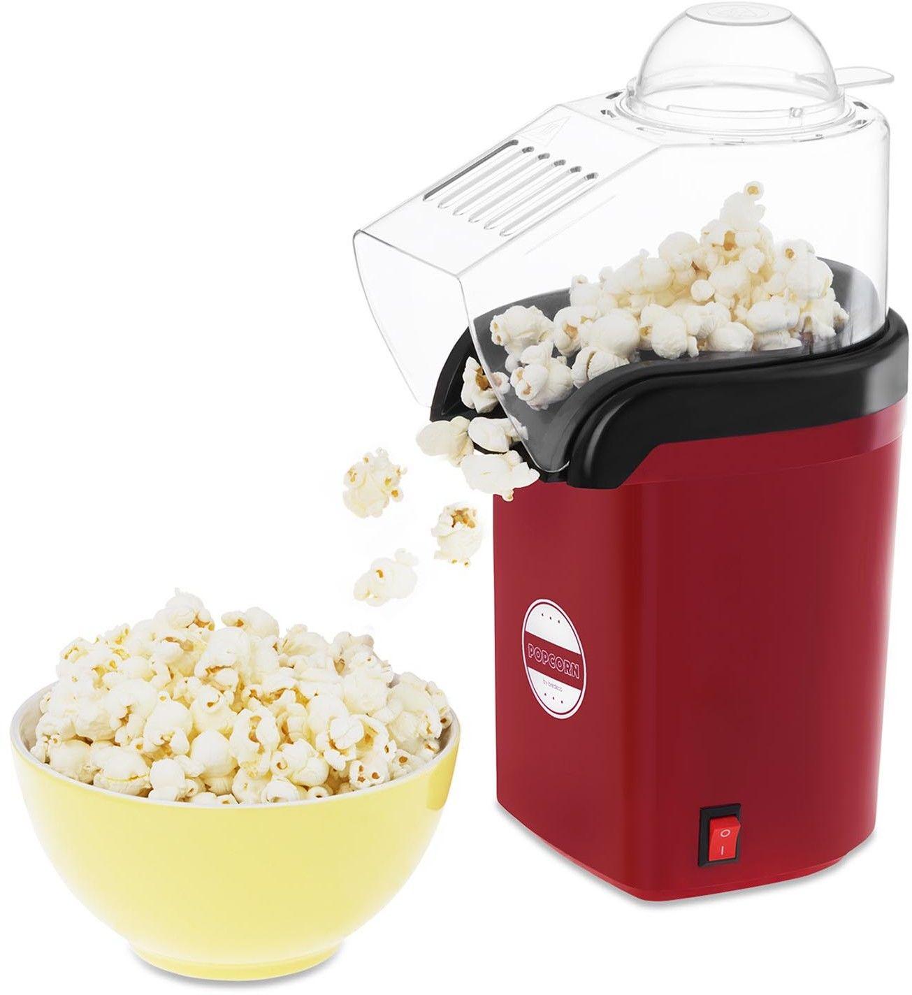 Maszyna do popcornu - beztłuszczowa - 1200 W - bredeco - BCPK-1200-W - 3 lata gwarancji/wysyłka w 24h