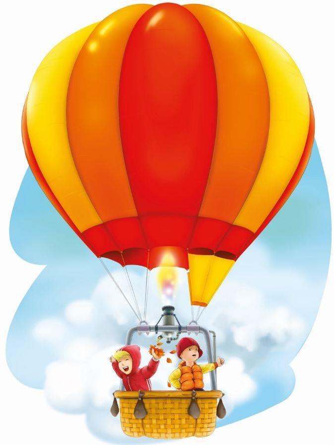Bajkowy balon i dzieci