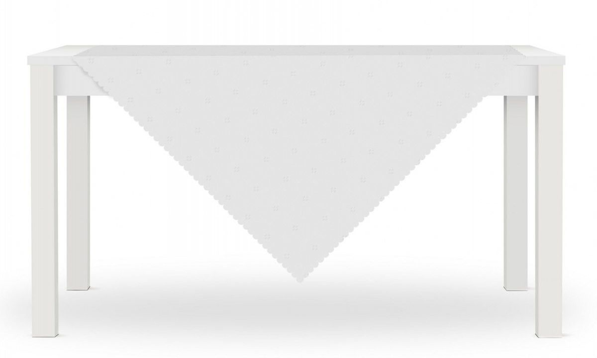 Obrus ALIS 80x80 Biały Kwiat