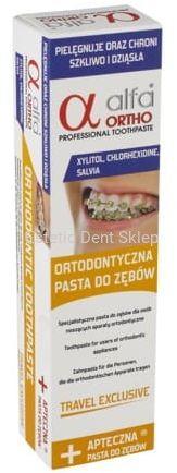 ALFA ORTHO Travel Exclusive - ortodontyczna pasta do zębów o intensywnym działniu - 75ml