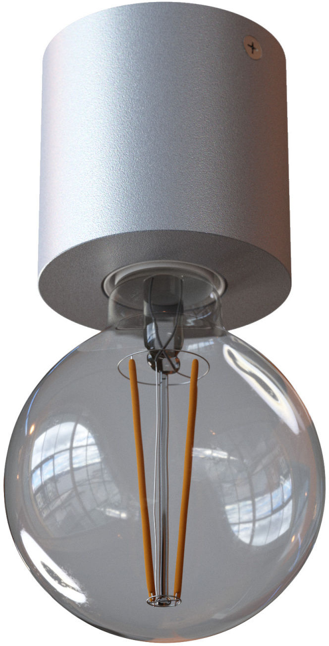 Oprawa natynkowa nowoczesna Minimal 1247A1101 Cleoni plafon minimalistyczny w kolorze aluminium