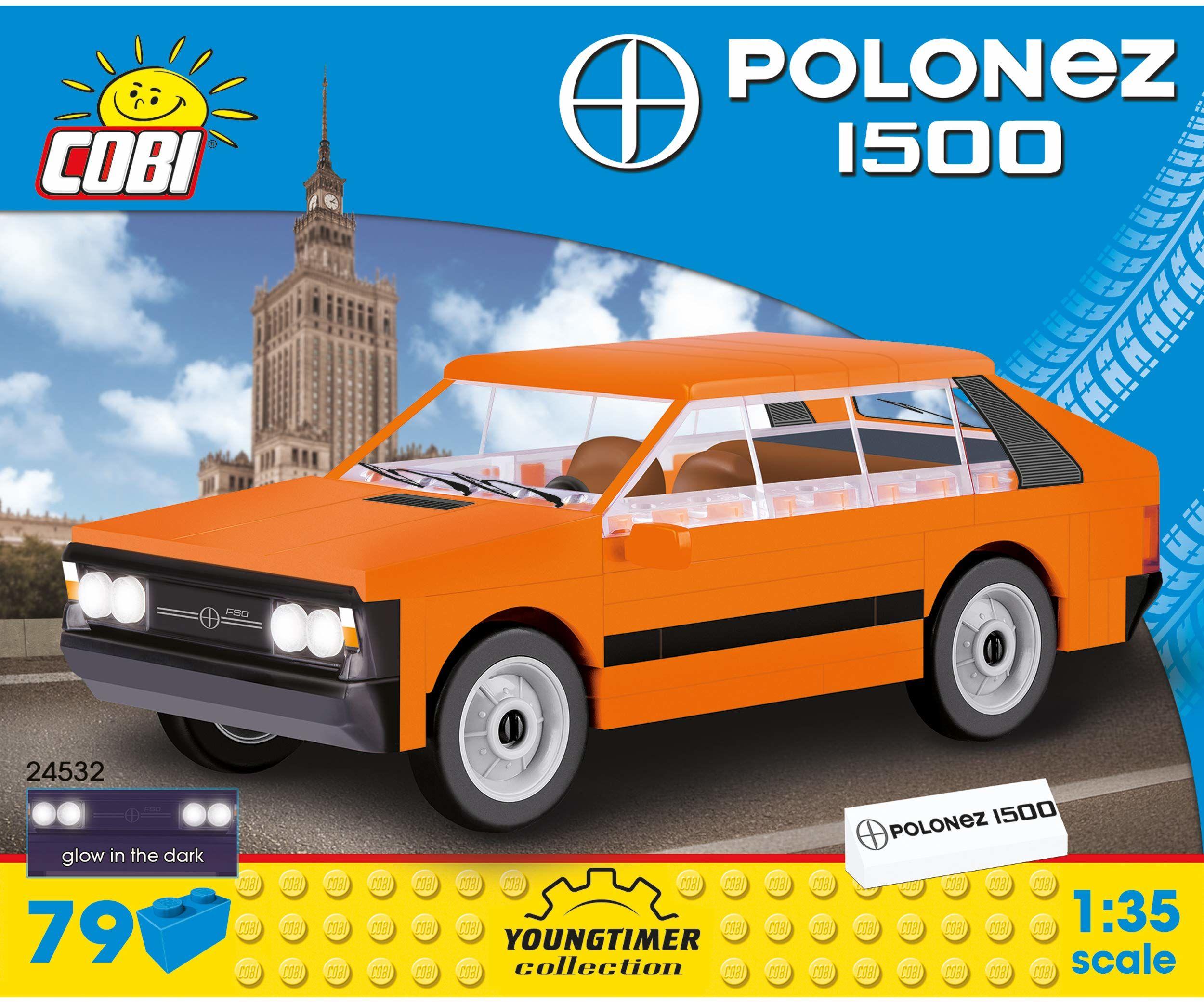 Cobi COB24532 FSO Polonez 1500 (79 szt.) zestaw modeli z cegły