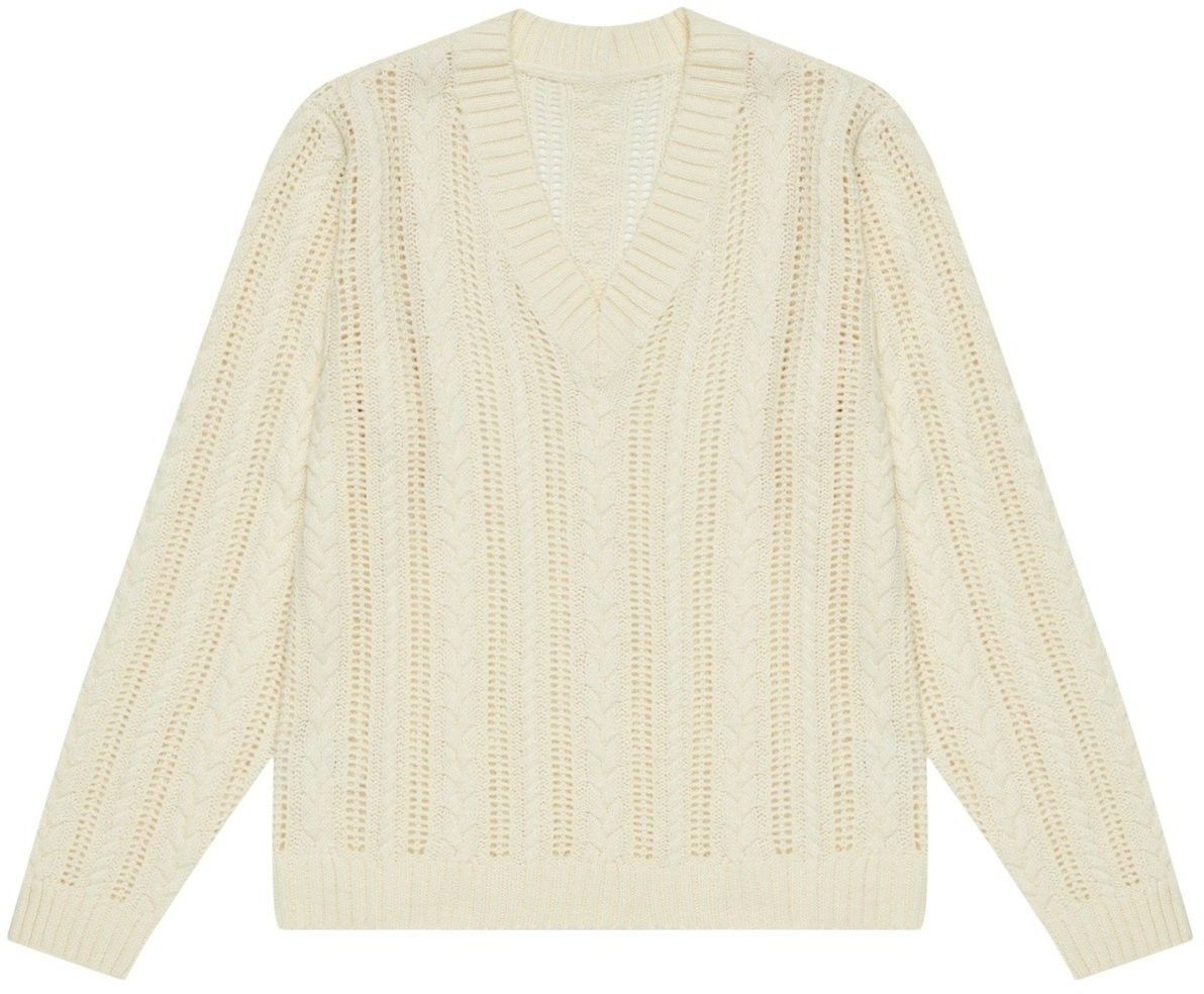 Sweter ze wzorem warkocza