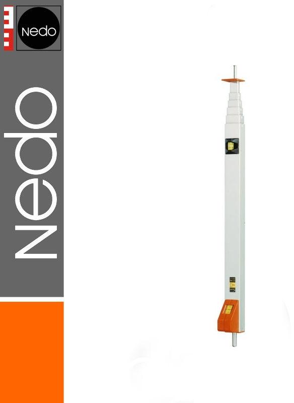 Przymiar teleskopowy z trzpieniem 0,63-2,10m mEssfix NEDO