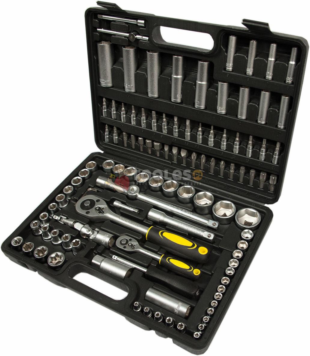 Zestaw narzędziowy klucze nasadowe bity torx 108 szt MASTIFF