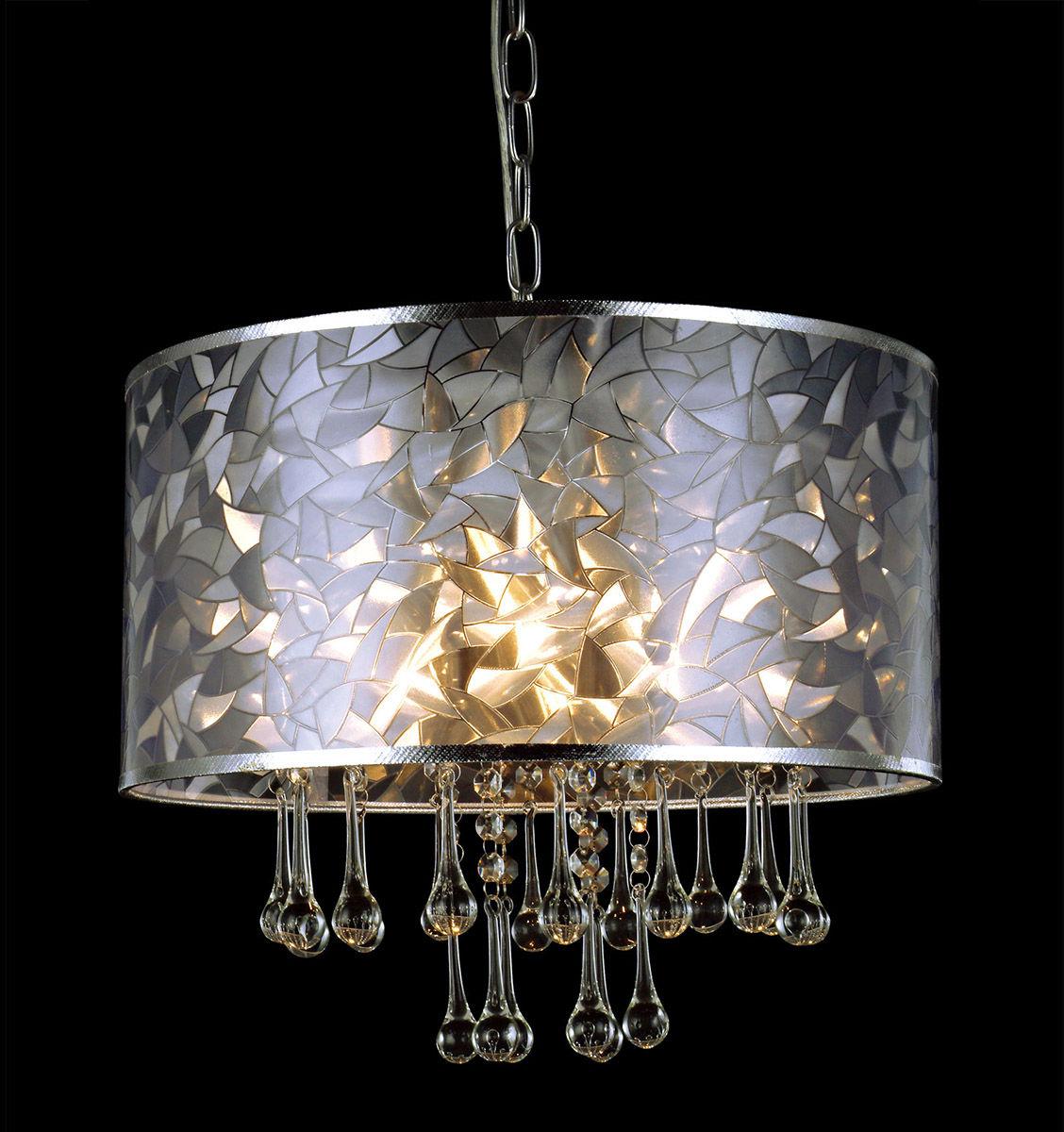 Italux lampa wisząca Cleo MDM2027/3 abażur kryształki 40cm