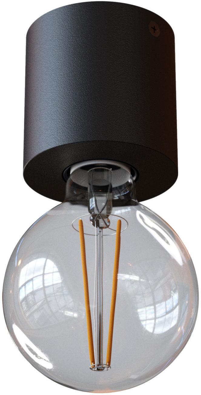 Oprawa natynkowa nowoczesna Minimal 1247A1116 Cleoni plafon minimalistyczny w kolorze czarny mat