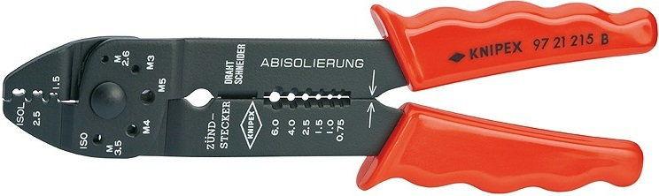 szczypce do zagniatania, zakres 0,5-6mm, Knipex [97 21 215]