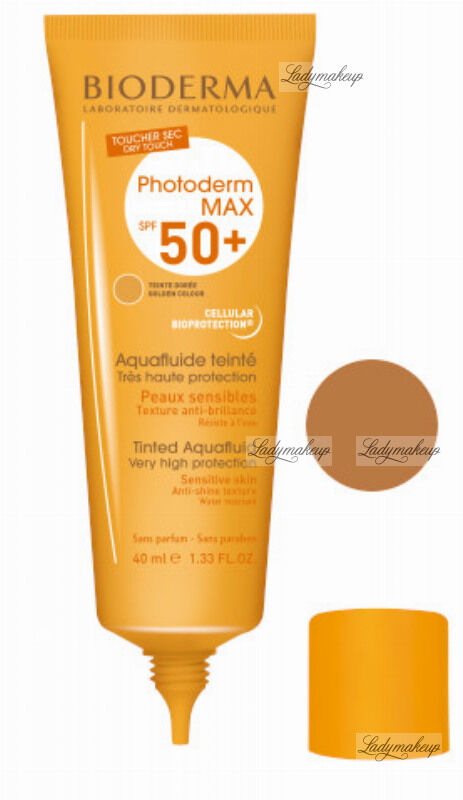 BIODERMA Photoderm MAX Tinted Aquafluide SPF 50+ Wodoodporny ultra lekki fluid do twarzy - 40 ml - CIEMNY