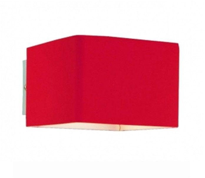 Kinkiet Tulip AZ0139 AZzardo czerwona oprawa w nowoczesnym stylu