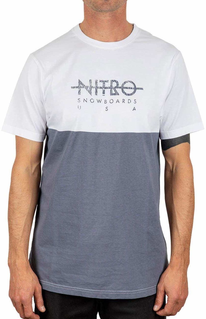 Nitro BLOCK TEE''20 T-shirt, Stone Grey, XL