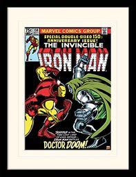 Marvel Iron Man (Dr. Doom) 30 x 40 cm zamontowany i oprawiony